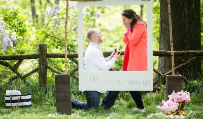 Belvedere Castle Polaroid marriage proposal