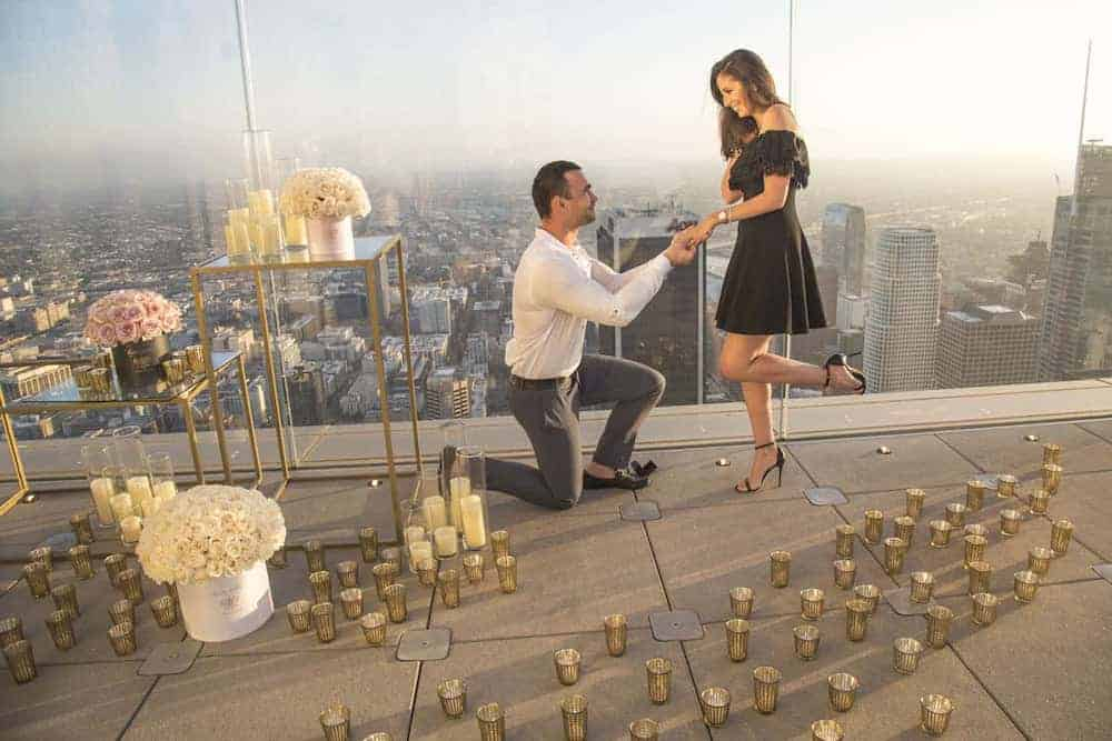 Rooftop Proposal Marriage Proposal Los Angeles Proposal Idea